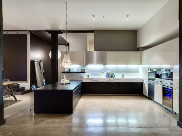 Contemporary Black Kitchen Design Ideas ~ Great modern loft design tips furniture home ideas